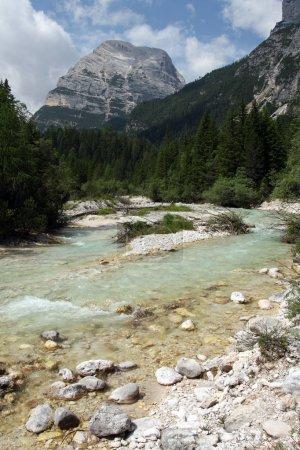Boite River in Dolomiti Mountains