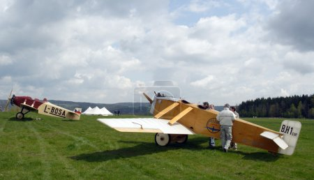 Historic plane on the airfield