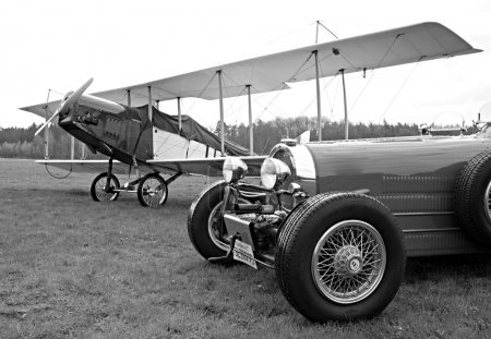 Historic racer and monoplane