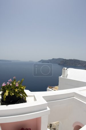 santorini incredible view patio setting
