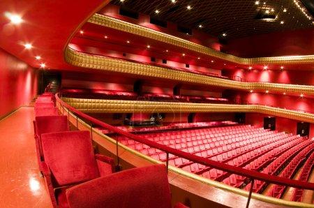 Photo for Ruben Dario National Theater Managua Nicaragua interior plush red velvet seats Central America - Royalty Free Image
