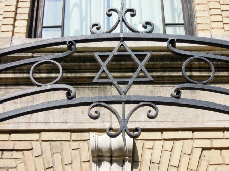 star of david wrought iron fence New York
