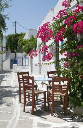 cafe taverna classic greek table chairs greek islands