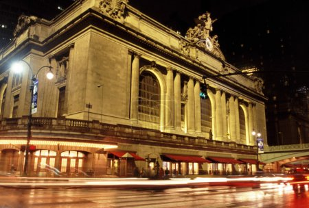 Grand central station at night in new york city...
