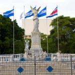 Statue monument ruben dario in front of ruben dari...