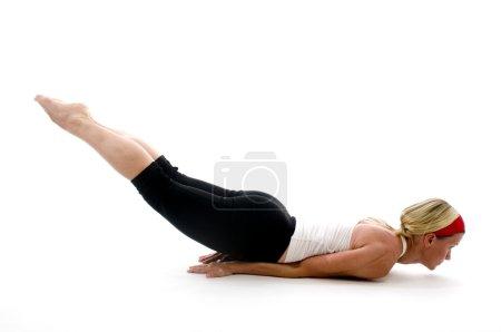 yoga locust pose illustration fitness trainer teacher
