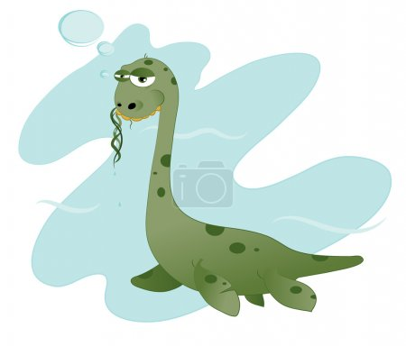 Funny Nessie eating