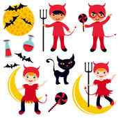 Cute collection of little devils