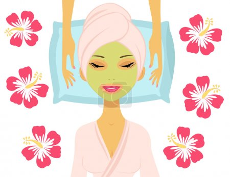 Illustration for Woman having beauty treatment - Royalty Free Image