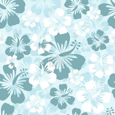 Illustration for Hibiscus seamless background - Royalty Free Image