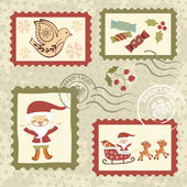 Beautiful vintage Christmas stamps collection