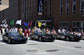 Indy 500 Drivers Bernaldi,Camara and Moraes Greets Fans at 500 Festival Parade