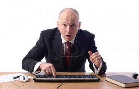 businessman shocked