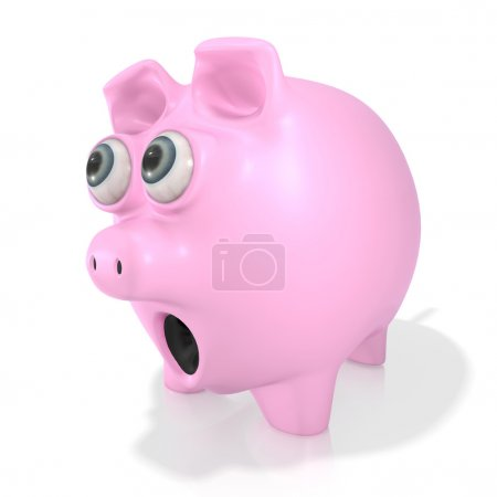 Shocked piggy bank