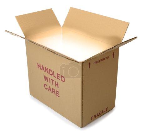 Cardboard box glow