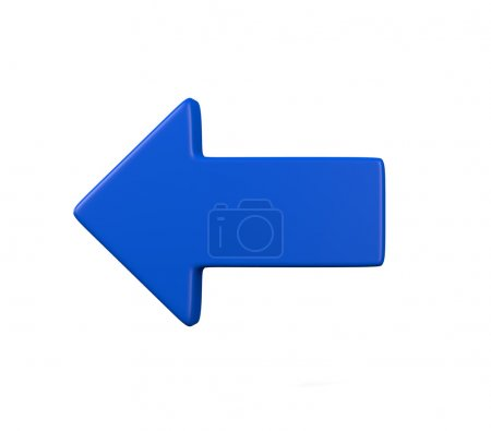 Photo for This illustration is a 3d render representing a blue arrow - Royalty Free Image