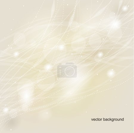 Illustration for Light abstract beige background. A vector. - Royalty Free Image