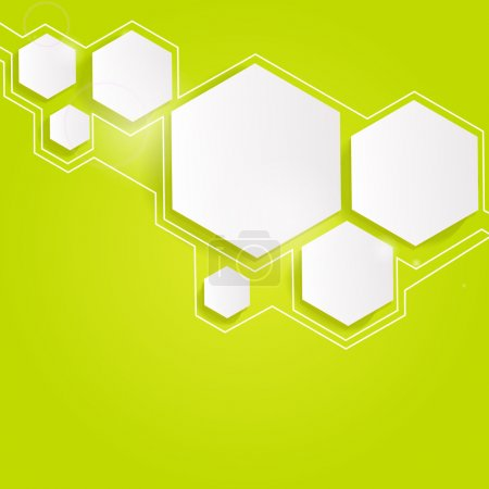 Illustration for Green abstract background. Vector. - Royalty Free Image