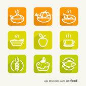 Food Set of abstract pictures A vector