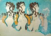 "Постер, картина, фотообои ""Древняя фреска из Кносского дворца на острове Крит, Греция"""