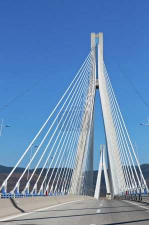 Cable-stayed bridge of Patras city in Greece