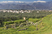 Ancient and modern Sparta historical city in Greece