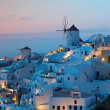 After sunset hour at Oia village of Santorini isla...