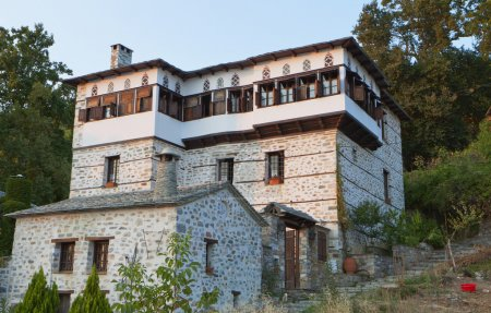 Traditional house at Pelion in Greece