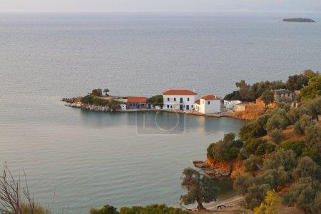 Zasteni bay and Marathias beach at Pelion in Greece
