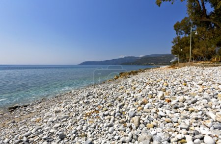 Beach at Kardamyli village in Greece