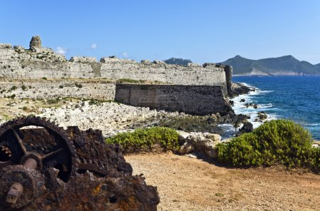 Castle and coast of Methoni in Greece