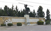 Leonidas statue at Thermopylae in Greece