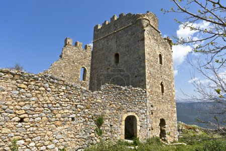 Castle of Zarnata at Mani, Greece