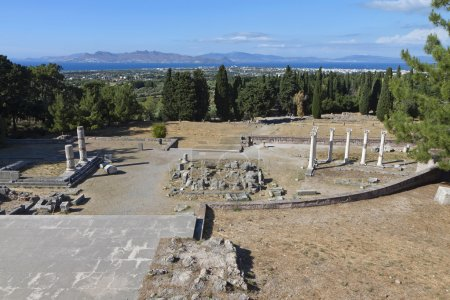 Ancient site of Asclepio at Kos island in Greece