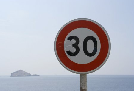 30 speed sign
