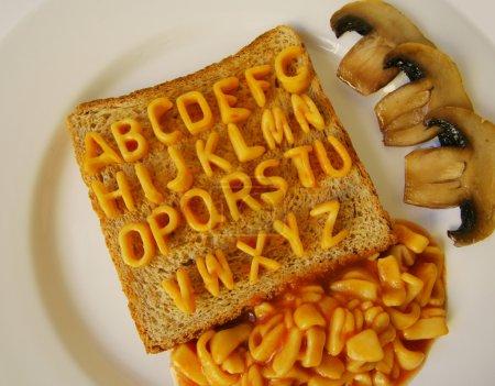 alphabet on toast