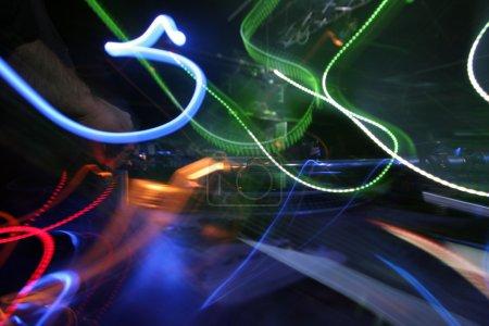 dj and lights abstract