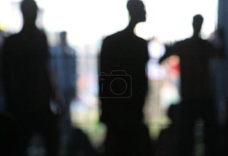 Photo pour Silhouette de - image libre de droit