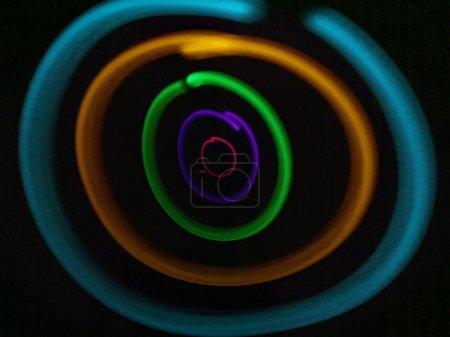 Photo pour Zincage léger avec une source lumineuse et l'exposition à long - image libre de droit
