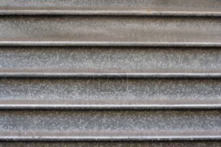 Photo for Close-up of a metal garage door - Royalty Free Image