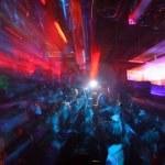 Blurred shot of dancers at fabric nightclub, londo...