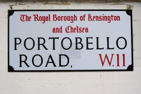 street sign for portobello road