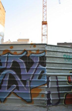 street art and crane
