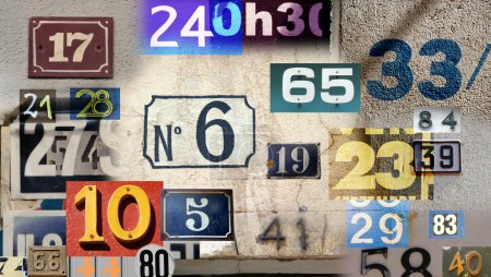 Different house numbers