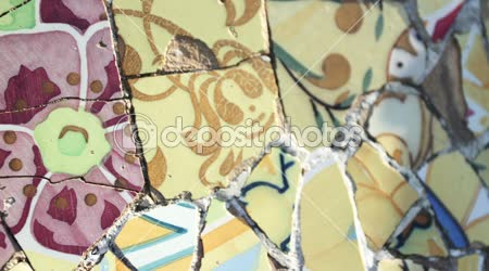 Abstract clip made from images of ceramic tiles