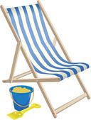 DECK CHAIR AND BUCKET AND SPADE