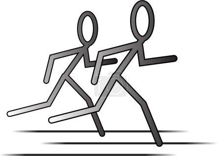 Illustration pour Coureurs - image libre de droit