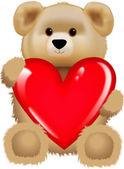 HEART AND CUTE BEAR