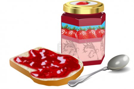 Illustration for BREAD AND JAM - Royalty Free Image
