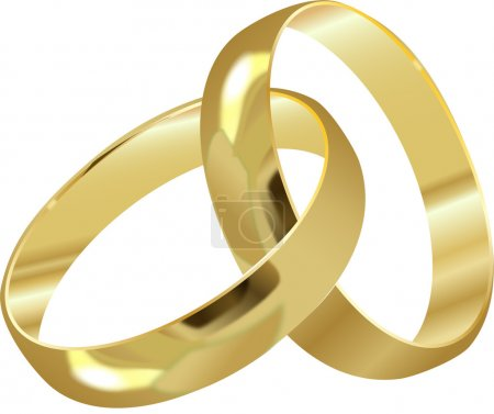 Illustration for WEDDING RINGS - Royalty Free Image